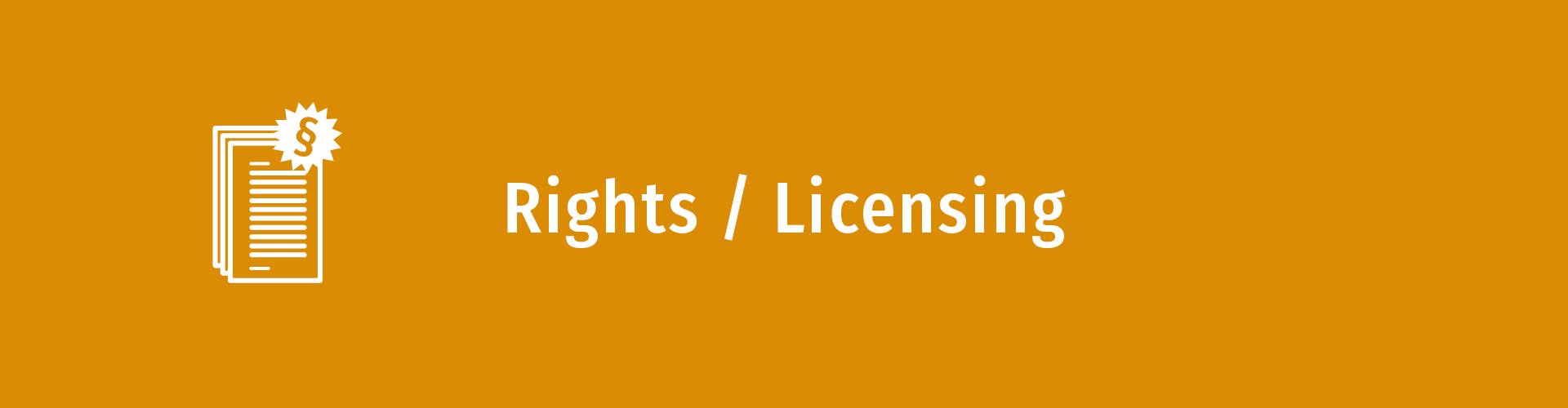 Rights / Licensing
