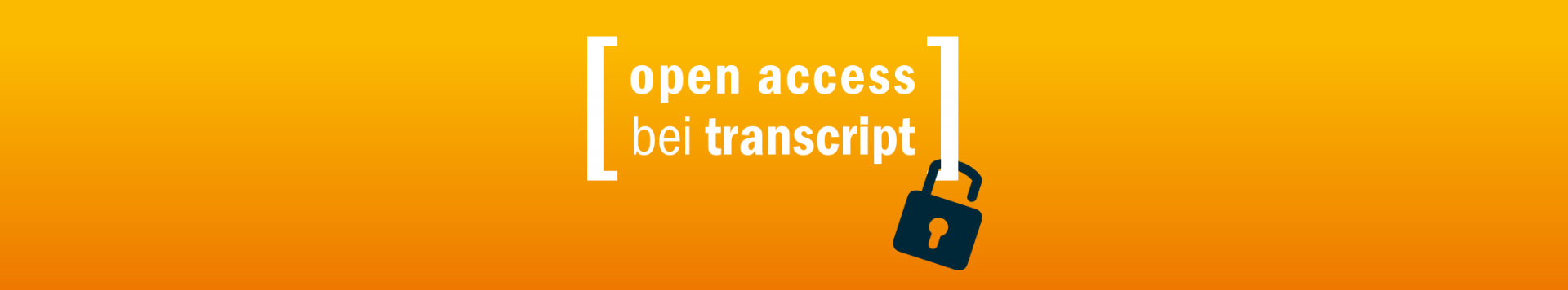 Banner Open Access bei transcript